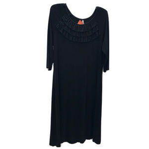 Hanna Andersson Black Jersey Maxi Dress